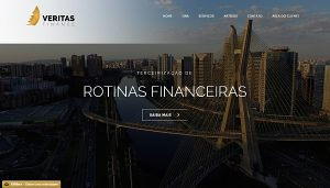 Site da Veritas Finance
