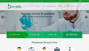 Site do Laboratório Biomedic