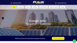 Site da Polux Energia Solar