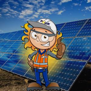 Mascote Polux Energia Solar