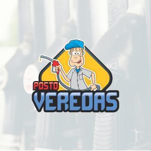 Logotipo com Mascote Auto Posto Veredas