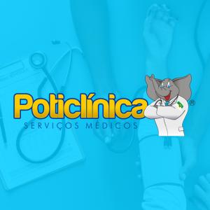 Poticlinas Logotipo com Mascote