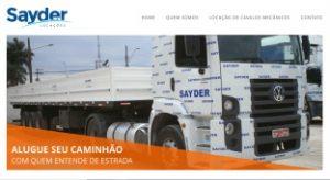Site da Sayder Locações